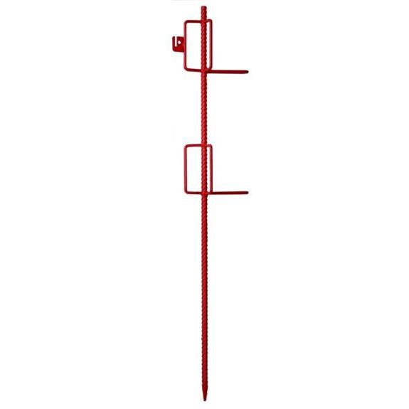 Lattenhalter aus Betonstahl mit 6 Bügeln rot